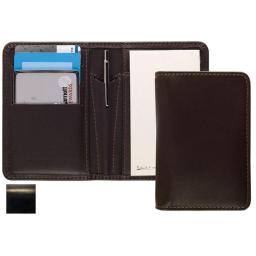 Raika RM 128 BLK Card Note Case with Pen - Black