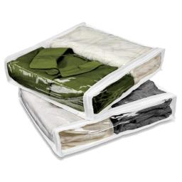 Honey Can Do SFT-01245 2 Count White & Clear Storage Bags