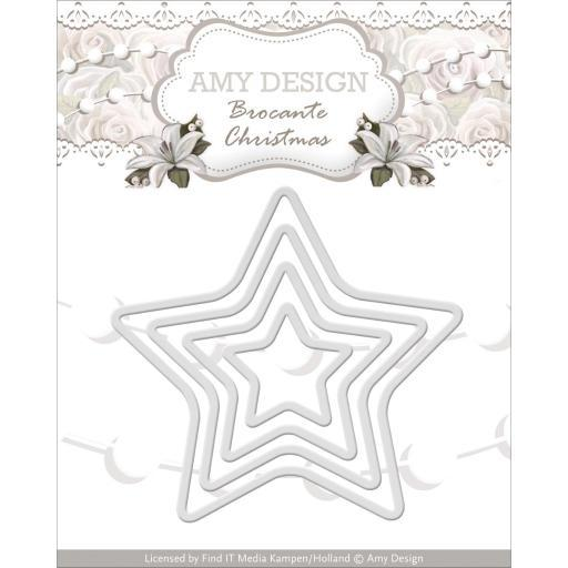 Find It Trading Amy Design Brocante Christmas Die Mini Star Frames