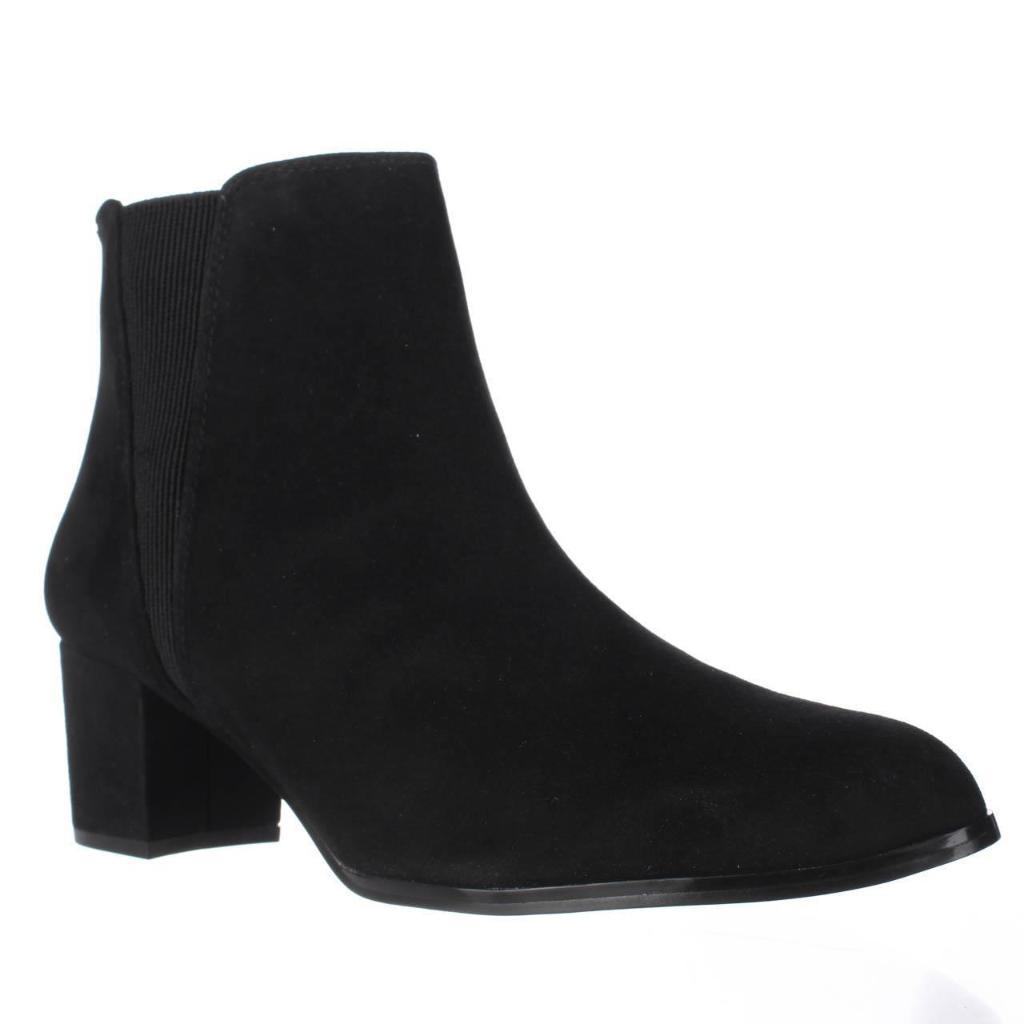 A35 Vitaa Rear Zip Ankle Boots, Black Suede