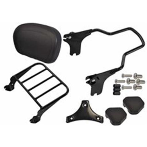 Bagger Brothers BB-DBR-9708-K Detachable Backrest & Luggage Rack Combo for 1997-2008 Harley Davidson FLH Models, Black KVOVDGQ6QI3EAUWS