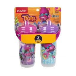 Edgewell Personal Care 55292493 Playtex Stage 3 Trolls Spout Sippy Cups, Pack of 2