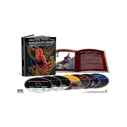Spiderman (02(/spiderman 2(04)/spiderman 3(07) gift set (blu ray/4k-uhd/uv) CRCQW8NDUDAZJWPO