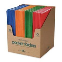 Roaring Spring Paper Products ROA50201 Two Pocket Folders- 11-.75in.x9-.50in.- 100-CT- Fashion Asst.