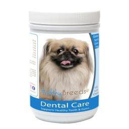 Healthy Breeds 840235162704 Pekingese Breath Care Soft Chews for Dogs - 60 Count