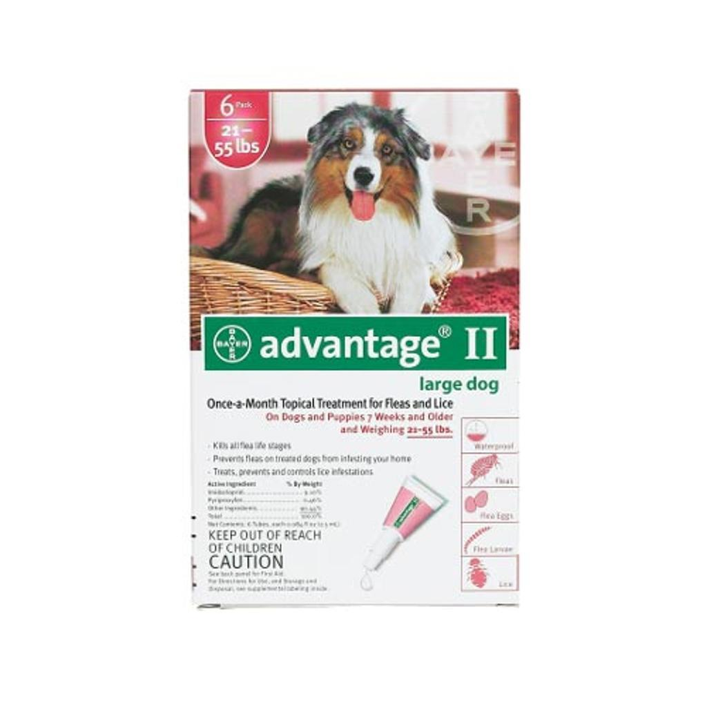 Advantage Red-55-6 Advantage Flea Control For Dogs And Puppies 21-55 Lbs 6 Month Supply
