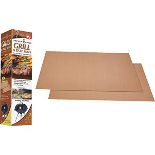 Tristr 81625-4 Copper Chef Cooking Grill Sheet or Mat pack of 6