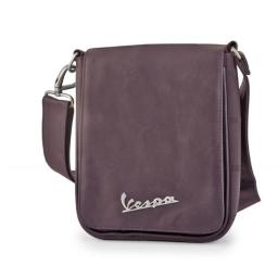 Vespa VPSC51 Small Messenger Should Bag - Brown - 8.7 x 2.4 x 7.5 in.