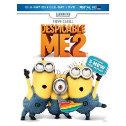 DESPICABLE ME 2  (3D/BLU RAY/DVD W/DIGTIAL HD/UV/3DISCS) (3-D) 25192200519