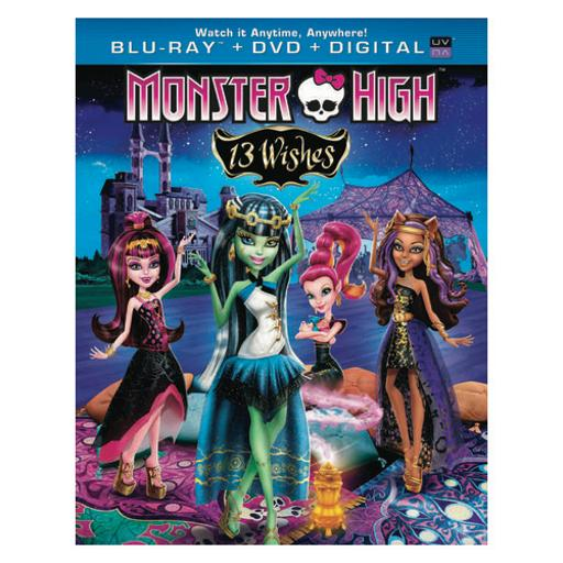 Monster high 13 wishes blu ray/dvd combo w/digital copy & ultraviolet DNFQ1DXXKQ2H9O5B