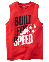 Carter's Baby Boys' Built For Speed Muscle Tee, 9 Months