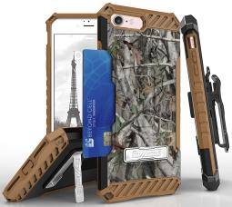 AUTUMN CAMO TREE REAL WOODS CASE STAND CARD SLOT STRAP BELT CLIP FOR iPHONE 8/7 thumbnail