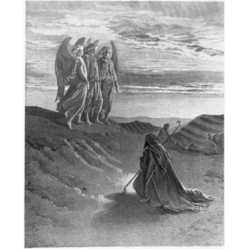 Posterazzi SAL995103141 The Lord Appearing Before Abraham Gustave Dore 1832-1883 French Engraving Poster Print - 18 x 24 in.