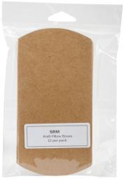 "Srm Kraft Pillow Boxes 3""X1""X5"" 12/Pkg- SRM67012"