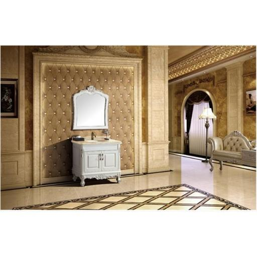 Dawn Kitchen RTC342232-01 Solid Wood And Plywood In Lotus White Finish Wood Stands Cabinet With Two Doors