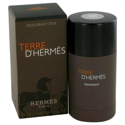 Terre D'Hermes by Hermes Deodorant Stick 2.5 oz Hermes Terre D'Hermes harkens to the scent of a natural man living in splendor. This elegant fragrance debuted on the market in 2006 and quickly defined itself as a leading industry standard. We are pleased to sell Hermes Terre d'Hermes products, including Terre d'Hermes cologne.
