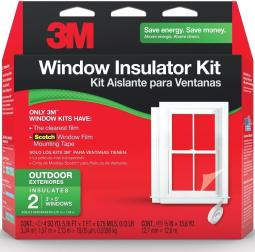 Scotch 2170 W-6 Outdoor Window Insulator Kit, 5.16' X 7', 2/pack