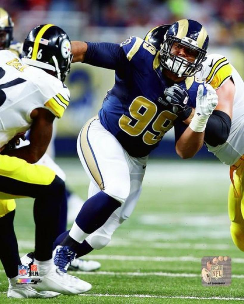 Aaron Donald 2015 Action Photo Print