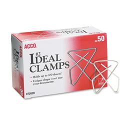 Acco A7072620B Ideal Clamps, Steel Wire, Small, 1.5 in. , Silver, 50-Box
