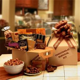 Gift Basket 819292 The Chocoholics Survival Kit with nuts
