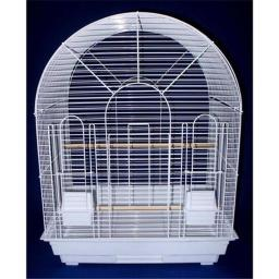 YML 1934WHT Round Top Small Bird Cage in White