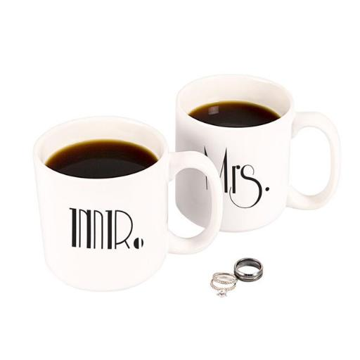 Cathys Concepts GMM-3900 Mr. & Mrs. Gatsby 20 oz. Large Coffee Mugs Set of 2