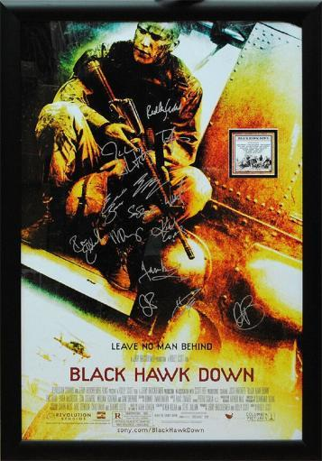 Black Hawk Down - Signed Movie Poster in Wood Frame with COA