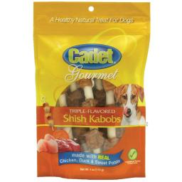 Cadet c01361 cadet gourmet rawhide shish kabob triple flavor treats chicken, duck and sweet potato 4 ounces
