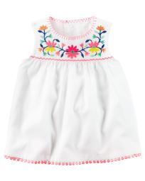 Carter's Baby Girls' Embroidered Top, 12 Months