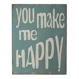 Cheungs FP-3927 You Make Me Happy Wooden Wall Art on Canvas FP-3927