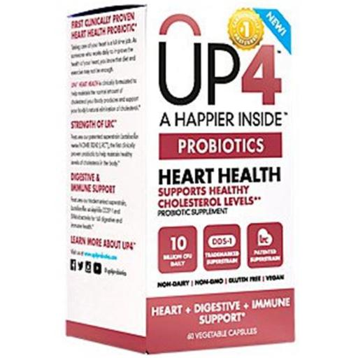 Up4 Probiotics 1839216 A Happier Inside Heart Health Supports Health - 60 Vege Capsules