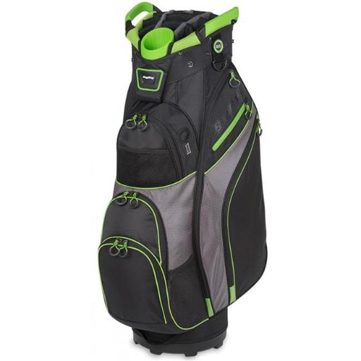 Bag Boy BB36108 Chiller Cart Golf Bag - Black, Charcoal & Lime