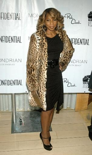 Mary J Blige At Arrivals For L.A.Confidential Magazine Celebration Of The Oscars Skybar, Modrian Hotel, Hollywood, Ca, February 22, 2007. Photo By.