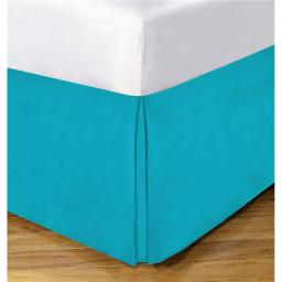 Lux Hotel FRE23614TURQ03 14 in. Basic Microfiber Bedskirt, Turq - Queen