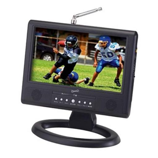 9 Inch LCD Portable Digital TV with AC-DC Adapter & Rechargeable Battery