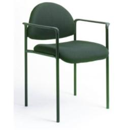 Boss Fabric Stackable Chair With Arms - B9501 - Burgundy