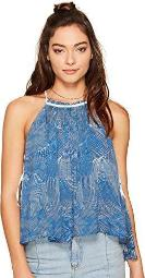 Free People Womens Pleated Sleeveless Casual Top