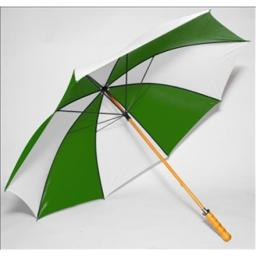 Elite Rain Frankford 2988WS-FW Wooden Shaft Golf Umbrella, Forest Green and White