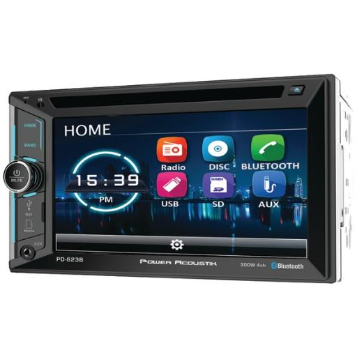 Power Acoustik Pd-623B 6.2 Incite Double-Din In-Dash Dvd Receiver With Bluetooth(R)