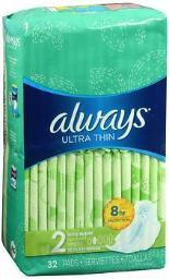 Always Ultra Thin Pads Long Super Flexi-wings - 6 Packs Of 32
