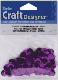 Cupped Sequins 8mm 200/Pkg-Purple 1004470