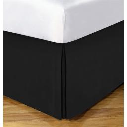 Todays Home TOH24914BLAC04 Levinsohn Basic Cotton Rich 200TC Tailored 14 in. Bedskirt, Black - King