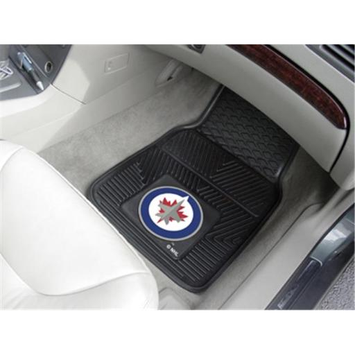 Fanmats 10519 NHL - 18 in. x27 in. - NHL - Winnipeg Jets 2-pc Heavy Duty Vinyl Car Mat Set