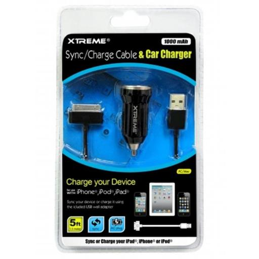 XTREME 88923 Xtreme Cable, Car Charger, 5 ft. Sync, With Charger Cable