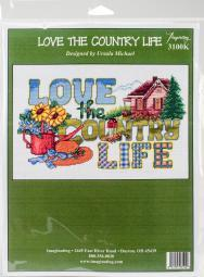 "Love The Country Life Counted Cross Stitch Kit-13.5""X8"" 14 Count I3100"