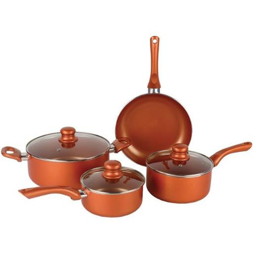 7 Piece Ceramic Aluminum Nonstick Cookware Set