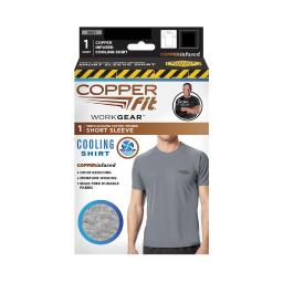 Copper Fit XL Short Sleeve Men's Crew Neck Gray Cooling Shirt - Case Of: 1;