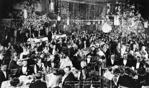 Academy Awards, 1929. /Nbanquet At The First Academy Awards Ceremony, 16 May 1929, In The Blossom Room Of The Roosevelt Hotel, Hollywood.