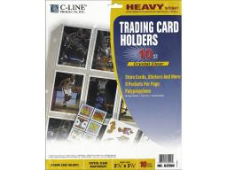 Cli62590 c-line trading card holder 9x11 5 top load 10pc