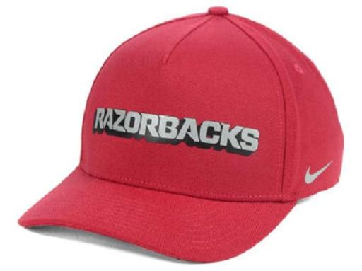 Arkansas Razorbacks NCAA Nike Local Dri-Fit Swoosh Flex Fitted Hat